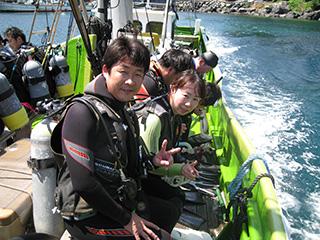 富戸にてボートダイビング