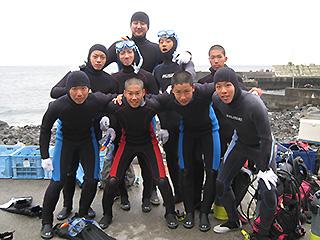 八幡野にて海洋実習