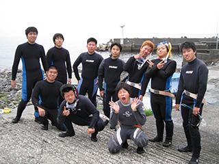 八幡野にてオープンウォーター海洋実習